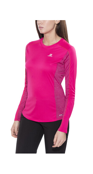 Salomon Agile LS Tee Women yarrow pink/gaura pink